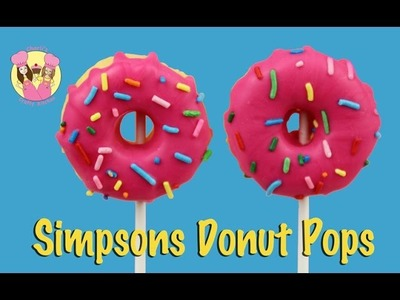 SIMPSONS DONUT CAKE POPS - National doughnut day - How to baking video by Charli's Crafty Kitchen