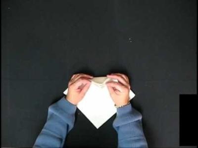United Linen  Napkin Folding:  Ice Cream Cone Fold
