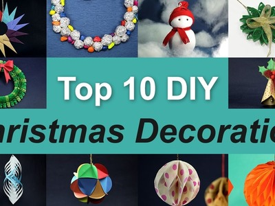 10 Christmas Decorations Ideas | Top 10 DIY Christmas Decorations