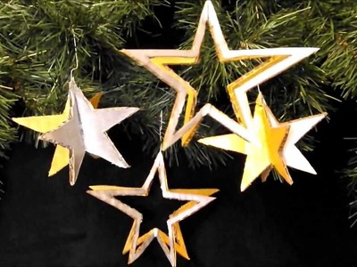 AMAZING CHRISTMAS ORNAMENTS MADE OF CARDBOARD #31 four easy to make stars