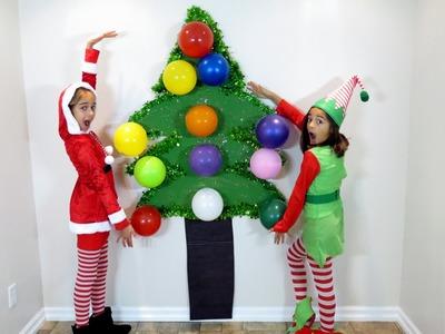 CHRISTMAS TREE BALLOON POP TOY SURPRISE!! Disney Frozen Hello Kitty Minions MLP Shopkins Fashems