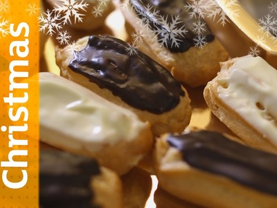 Christmas Tree Eclairs - Easy Christmas Desserts | Sainsbury's