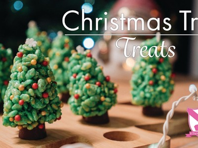 Christmas Tree Marshmallow Treats - In The Kitchen With Kate