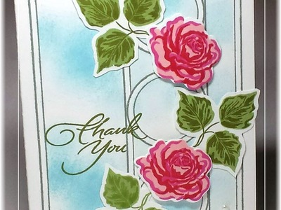Create a Rose Trellis Card with Triple Play Frame