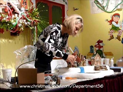 Designer Tips from Christmas Place - Make a Waterfall