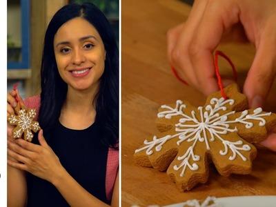 DIY Gingerbread Cookie Ornaments l The Tastemakers-Jessica Vargas