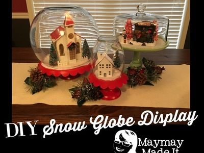 DIY Snowglobe Displays For Christmas