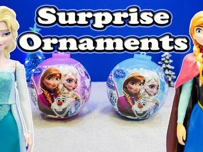 FROZEN Disney Queen Elsa & Princess Anna Surprise Ornaments Toys Video