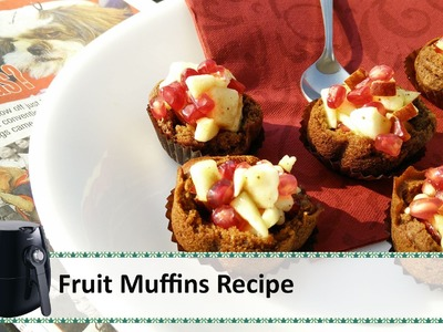 Fruit Muffin | Air Fryer Recipes | Healthy Christmas Recipes | Christmas Muffins by Healthy Kadai