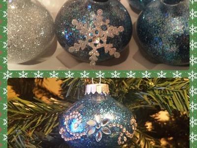 Glitter Christmas Ornament DIY