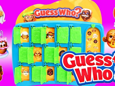 GUESS WHO Game Challenge Kids Toy & Surprise Stocking with Ornaments Num Noms