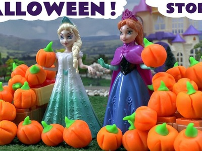 Halloween Play Doh Disney Frozen Stories | Peppa Pig and Thomas and Friends Toy Trains
