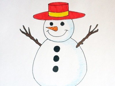 How to draw a Snowman, Christmas stuff, pictures