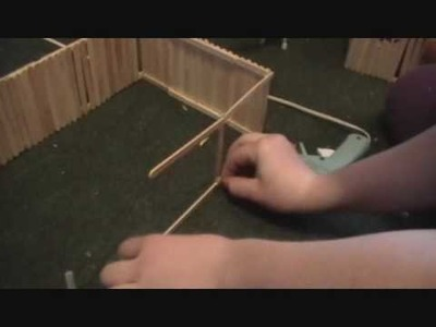 How to make a Breyer barn out of popsicle sticks *part 2*