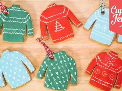How to Make Christmas Jumper Cookies | Cupcake Jemma