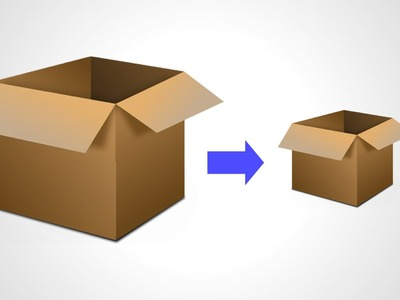 How to reduce the size of a box