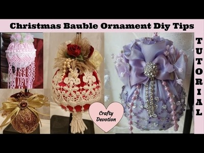 Lavender and Red Bauble #1, Christmas Ornament Tutorial Kit, Diy, Tips n Tricks. by Crafty Devotion.