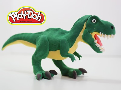 Learn how to Make T Rex dinosaur for kids using Play doh