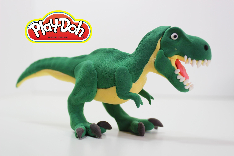 Как сделать динозавра из пластилина рекс