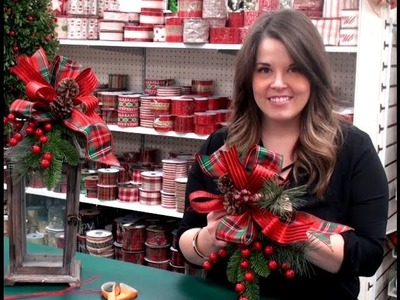 Making a Holiday Accent Bow with Anna - 2016