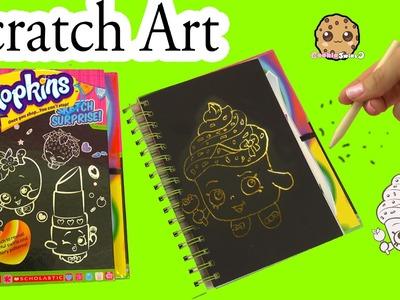 Shopkins Sketch Surprise Scratch Drawing Art Book -  Limited Edition Cupcake Queen - Cookieswirlc