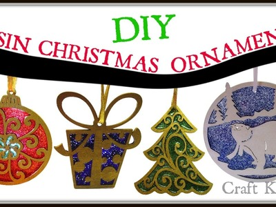 Wood, Resin and Glitter Christmas Ornaments | DIY Project | Craft Klatch | How To