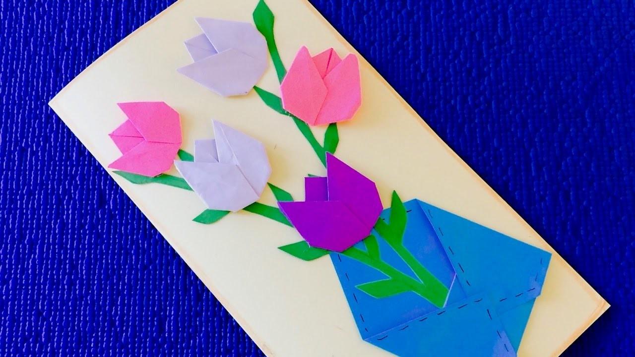 Подарок маме на день рождения своими руками как делать цветы из бумаги