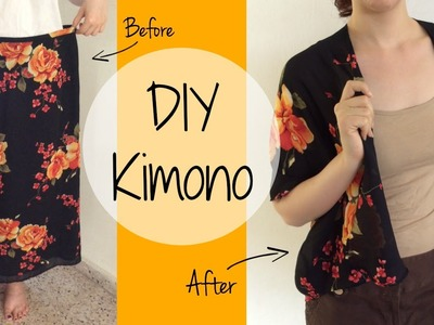DIY Kimono Out of a Skirt | ItzaMeylin