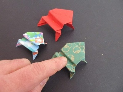 Fold an Origami Jumping Frog