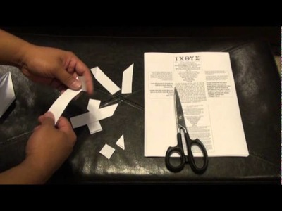 Fold Or Tear A Gospel Origami Cross Heart. Letters Spell Hell Or Life. Easter Good Friday Craft