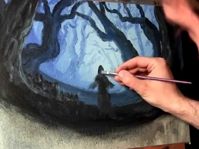 FOREST HAUNTING - Acrylic Painting Lesson