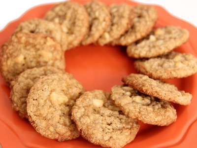 Oatmeal Almond White Chocolate Chip Cookies - Laura Vitale - Laura in the Kitchen Episode 587