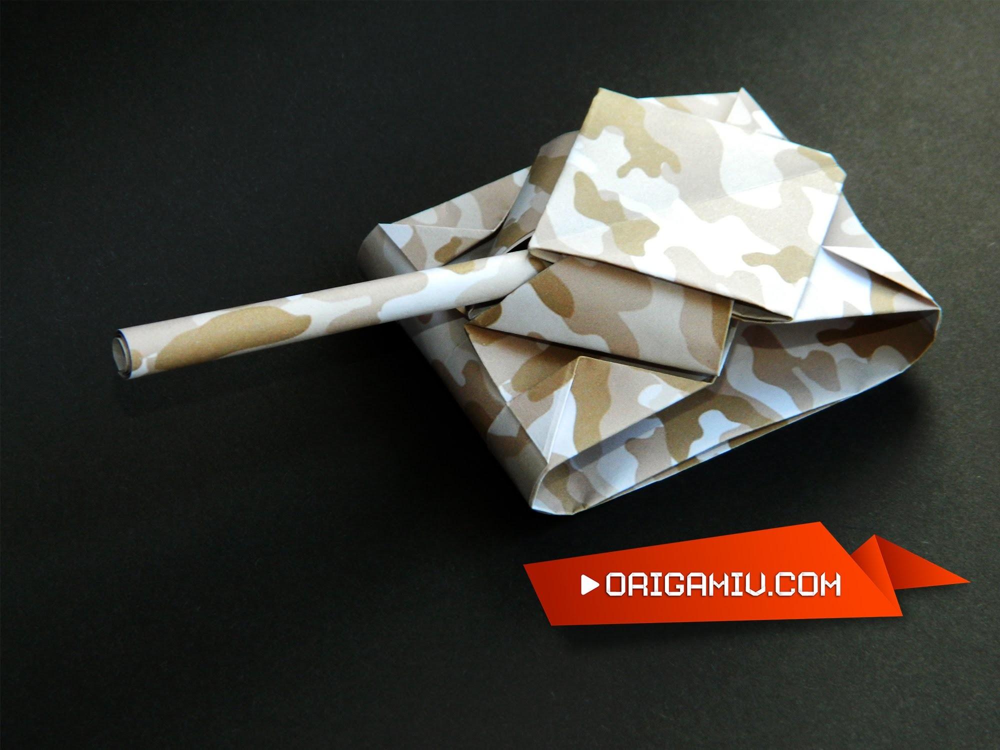 Оригами из бумаги танк