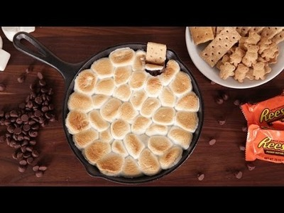 Peanut Butter Cup S'mores Dip Recipe | Get the Dish