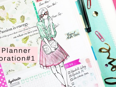 Plan with Me: Decorating my FAB Planner #1