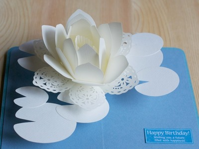 Pop-up card【スイレン2016】-water lily 2016-