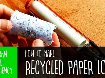Simple Fire Briquettes from Recycled Paper. How To [OLD]
