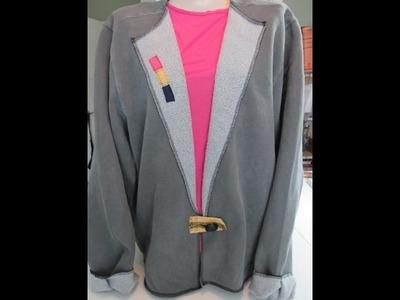 Sweatshirt to Jacket Tutorial