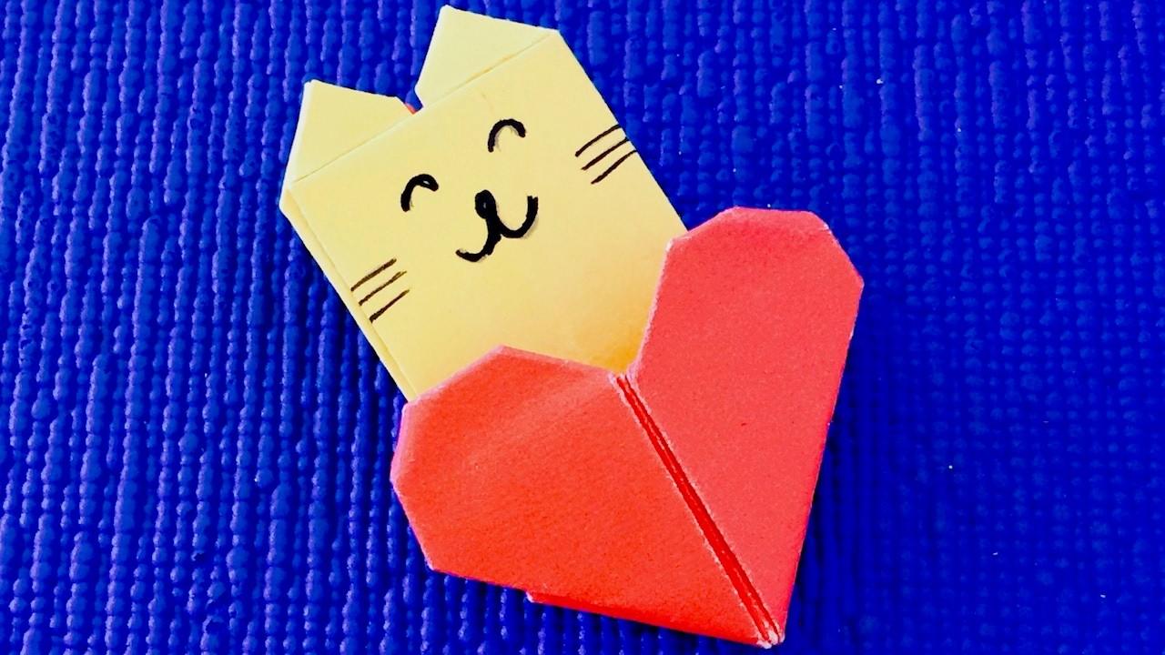 Оригами сердечки с посланиями