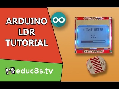 Arduino Project: Light Meter using a photoresistor ( LDR ) and a Nokia 5110 lcd on Arduino  Tutorial