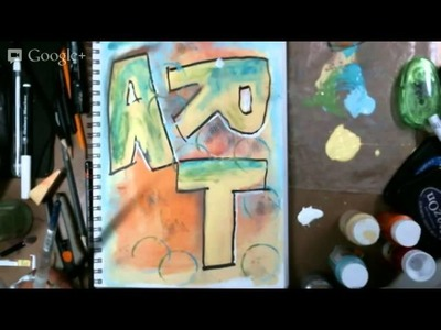 Art Journal for beginners  Part 1 with Terri Sproul