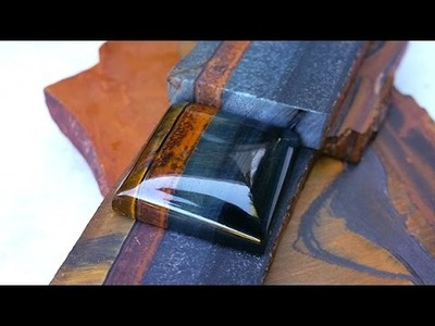 """Basic """"How to"""" Tutorial on Cutting and Polishing a Gemstone Cabochon"""