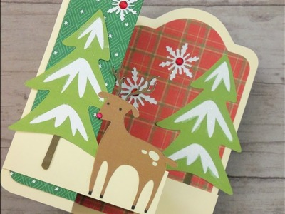 CARDZ TV 12 DAYS OF CHRISTMAS CARD FOUR 2016 ~ DOUBLE Z FOLD TAG CARD