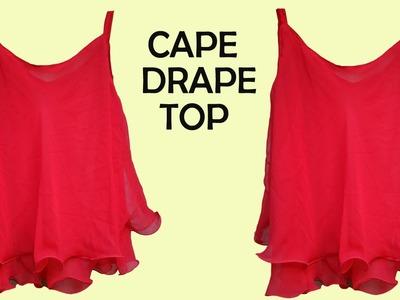 Designer cape drape top for girls.women DIY