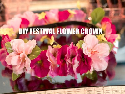 DIY (Music Festival) Flower Crown | Coachella Ideas
