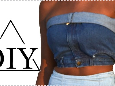 How to make a denim crop top
