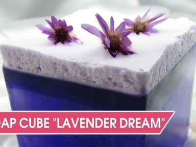 "How to make beautiful soap with swirl ""Lavender dream"""