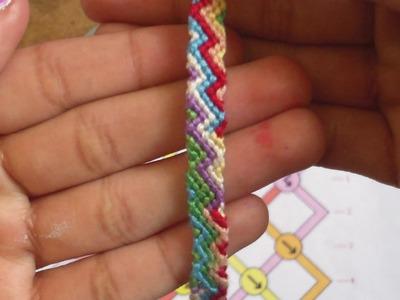How to make the friendship bracelet sideway's zigzag