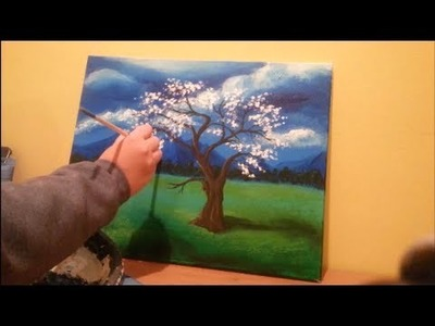 How to paint a tree in a field - STEP by STEP