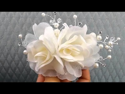 Light Ivory Flower Hair Comb from Hair Comes the Bride